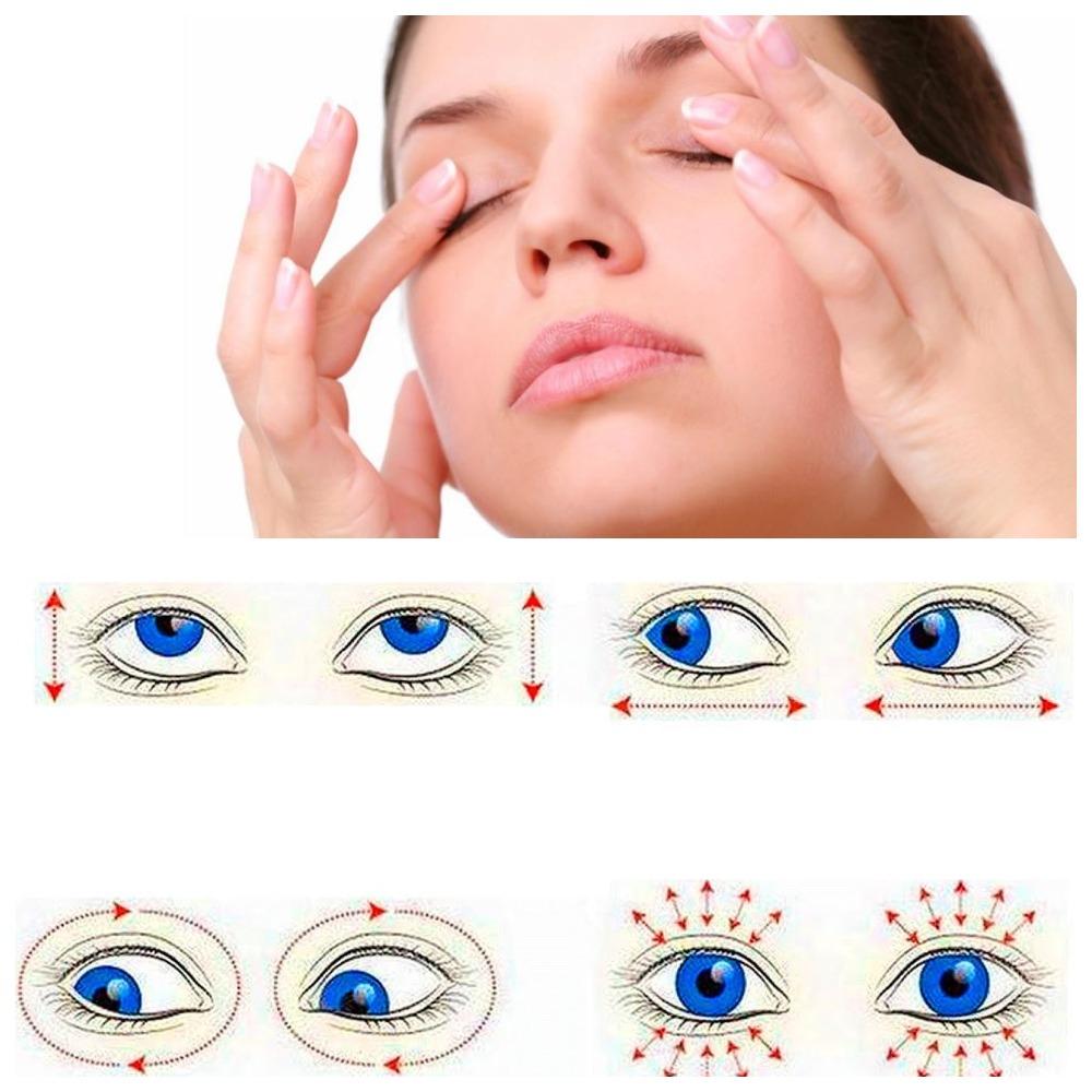 Тренировка глазных мышц в картинках